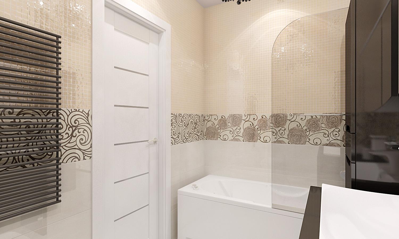 Дизайн плитки с рисунком для ванной комнаты