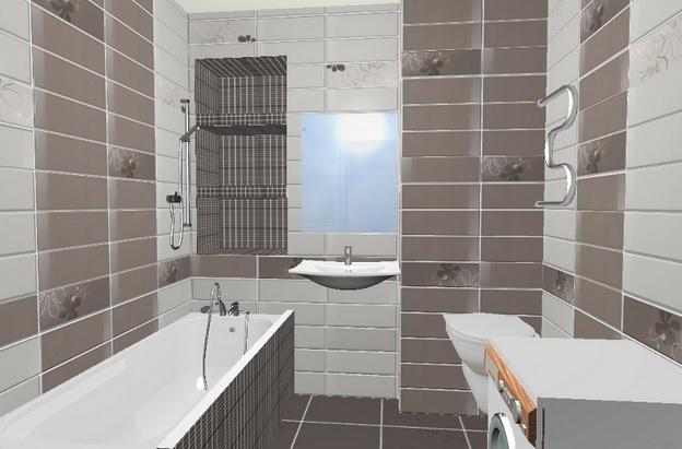 Дизайн укладки плитки в ванной