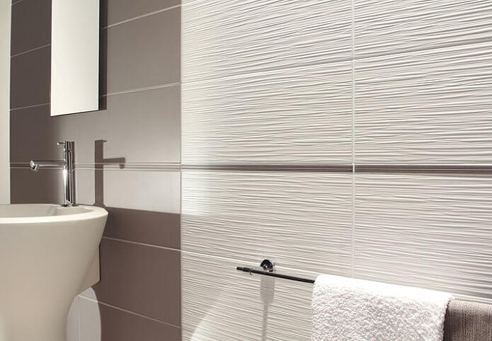 Дизайн ванной комнаты в плитке