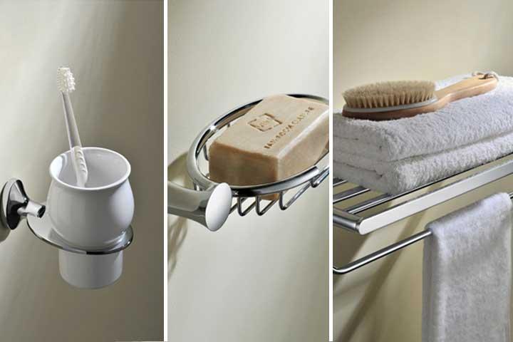 Где разместить ванные принадлежности для эффектного интерьера