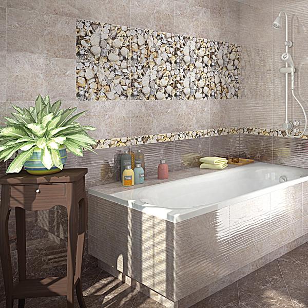Интерьер плитки для ванной комнаты