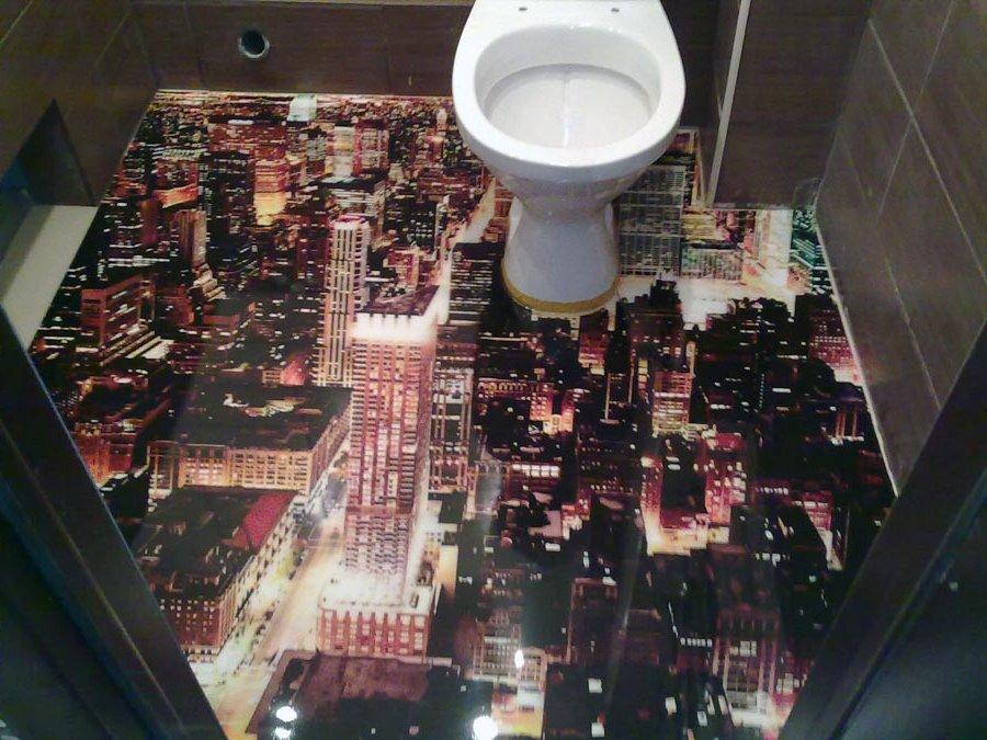 Интерьер ванной комнаты 2018