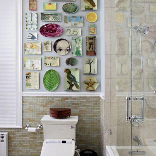 Как украсить стену в ванной комнате в 2018 году
