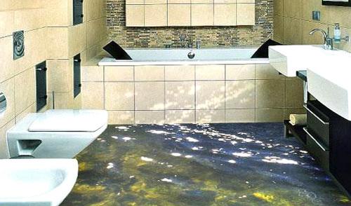 Как выбрать наливной 3d пол в ванной комнате