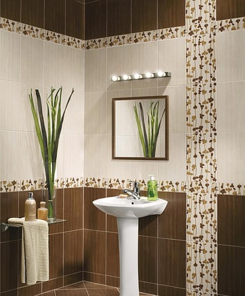 Классический красивый дизайн ванной комнаты