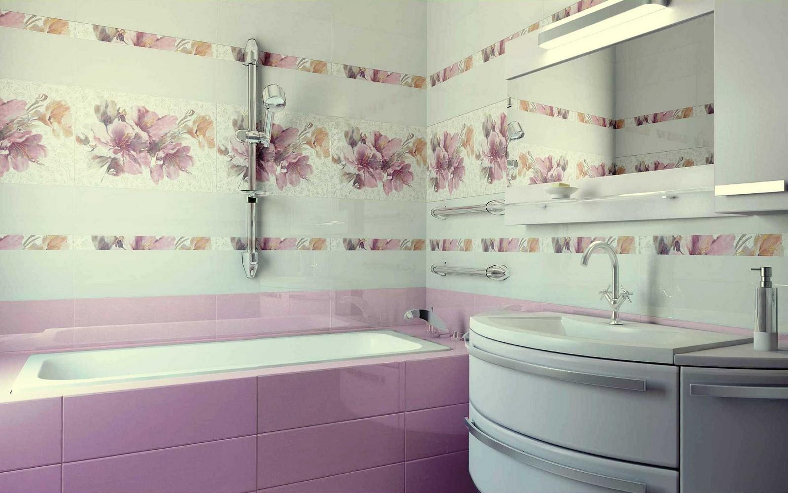Красивая плитка с цветочным мотивом