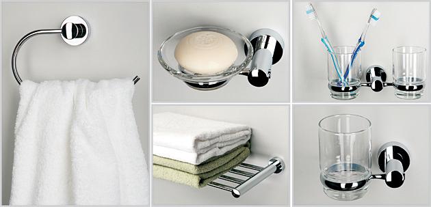 Красивые аксессуары-украшения в ванной комнате