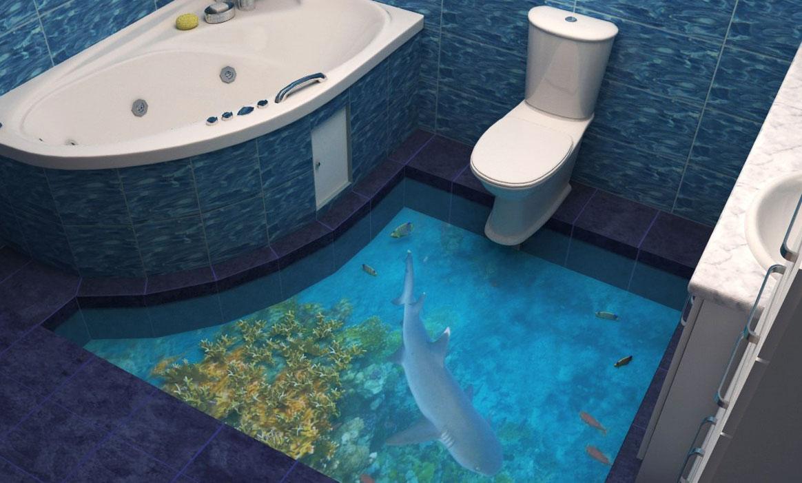 Красивые полы в ванной