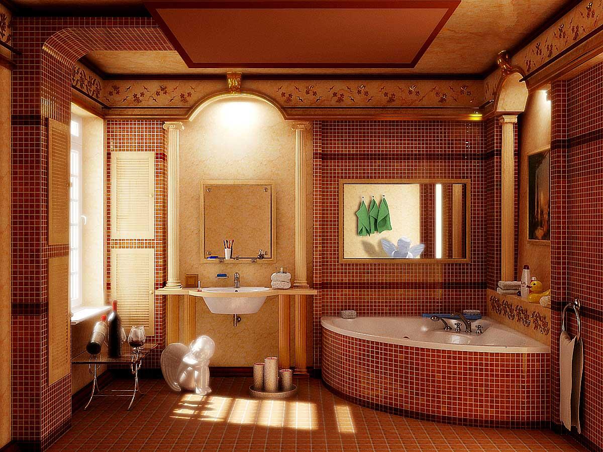 Креативный стиль оформления ванной комнаты