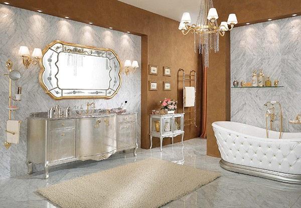 Модный декор стильной ванной комнаты 2018