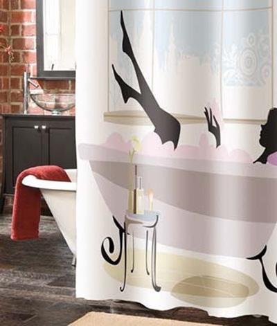 Необычная занавеска в ванной