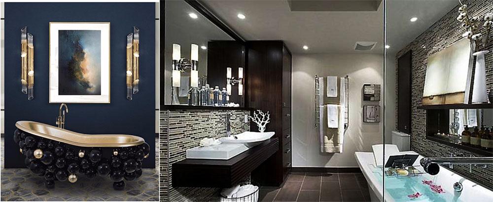 Необычный дизайн ванной комнаты 2018