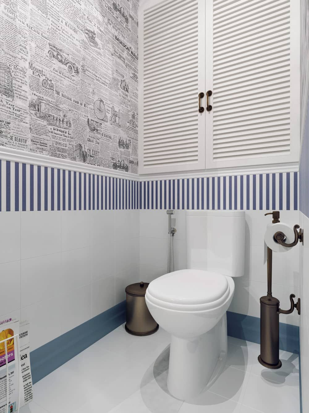 Обои для туалета в квартире
