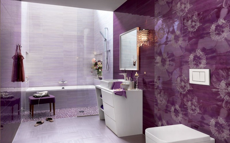 Оригинальное оформление ванной 1028