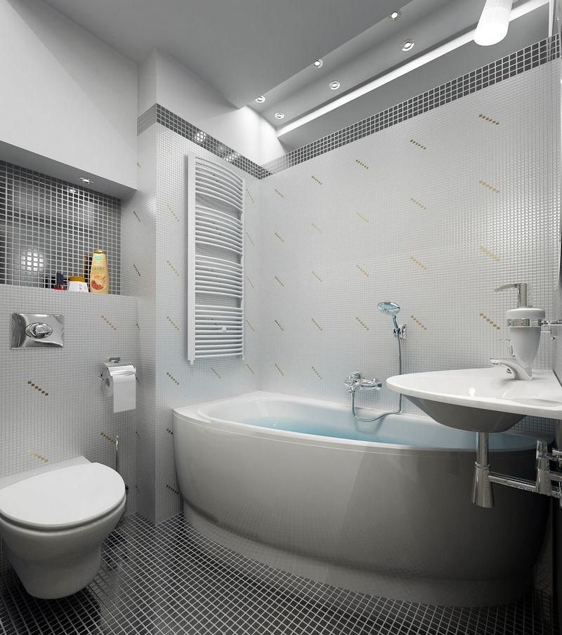 Освещение в ванной продуманное до мелочей 2018