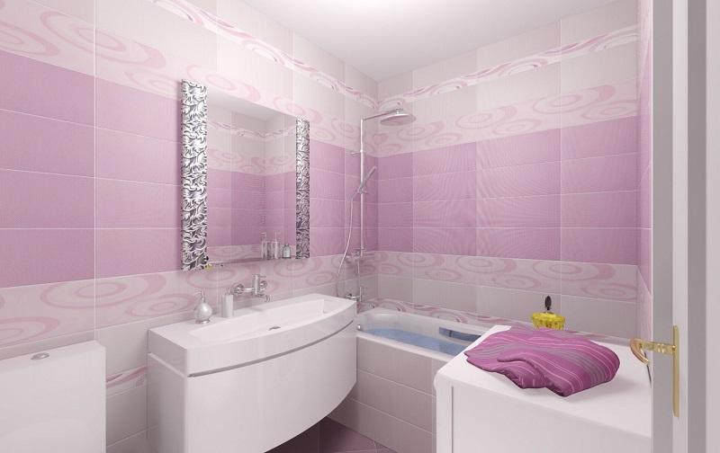 Плитка из ПВХ розового цвета