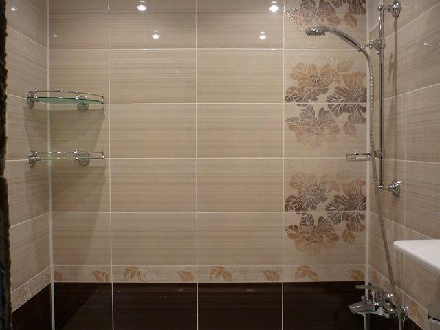Плитка коричневых оттенков для ванной комнаты