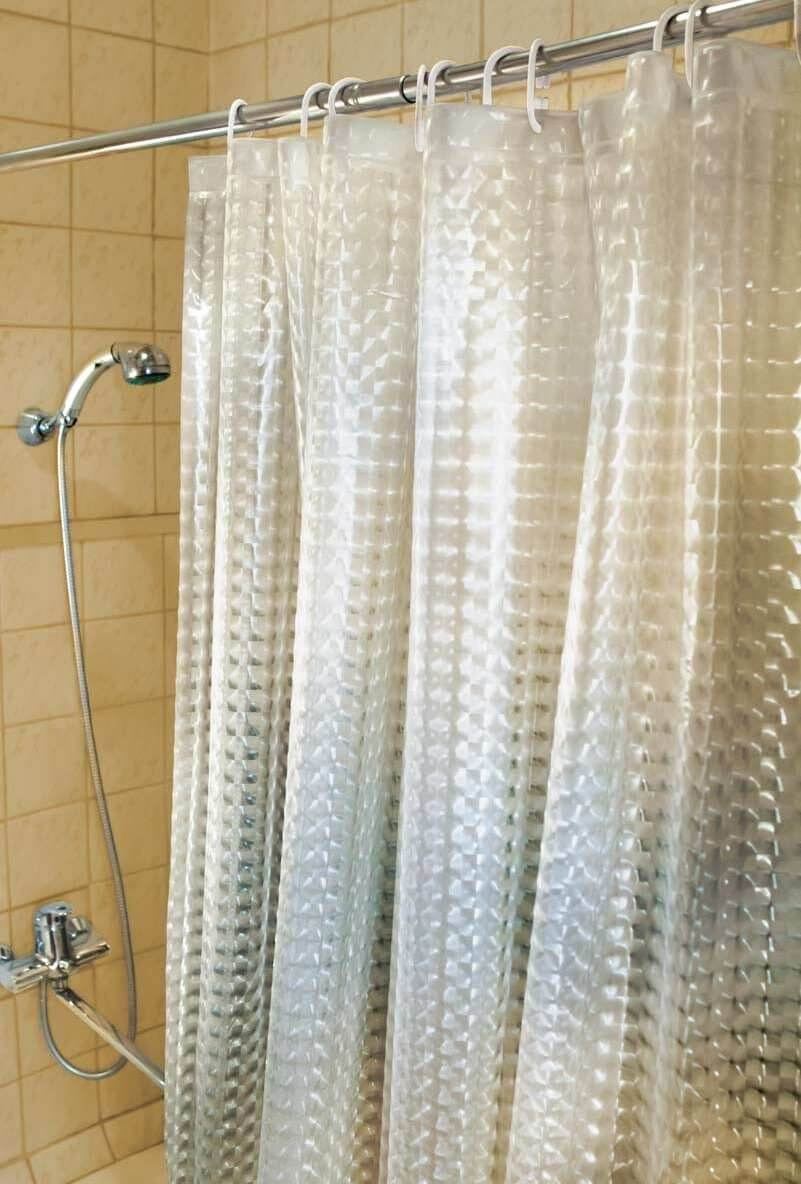 Полупрозрачная занавеска для ванной
