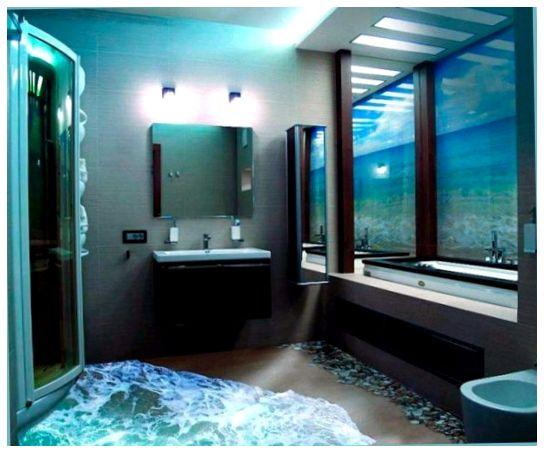 Полы наливного типа — удобный вариант оформить интерьер ванны