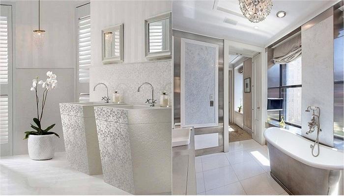 Преображение ванной комнаты с помощью светлых оттенков