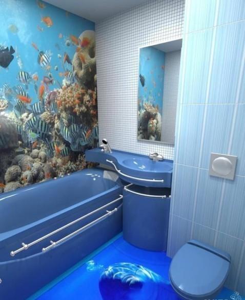 Пример красивого дизайна ванной комнаты 2018