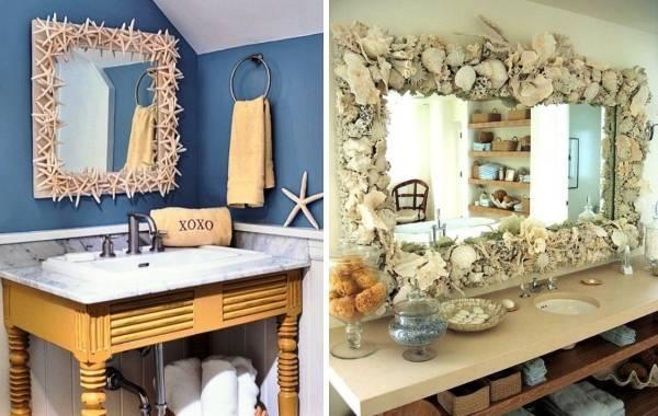 Пример модного декора ванной комнаты 2018 года