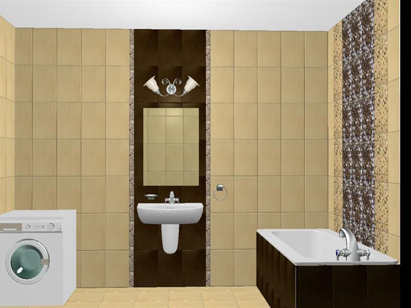 Принт плитки для маленькой ванной комнаты