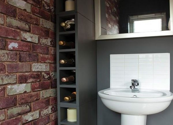 Природные структуры в оформлении ванной комнаты