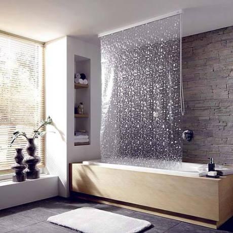 Прозрачная штора в ванну 2018