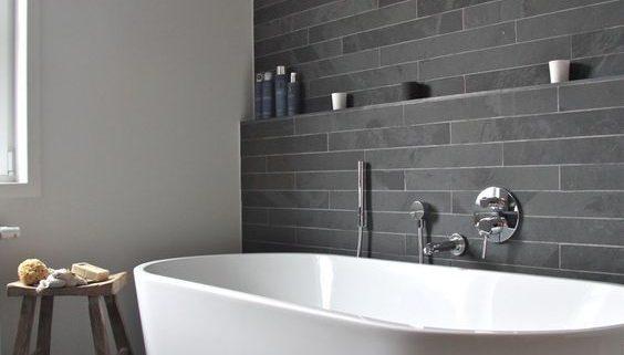 Серая ванная комната 2018