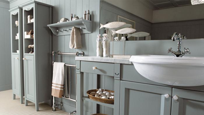 Серые оттенки дизайна ванной комнаты