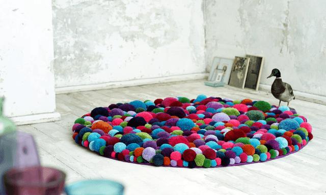 Создание коврика из мешочков