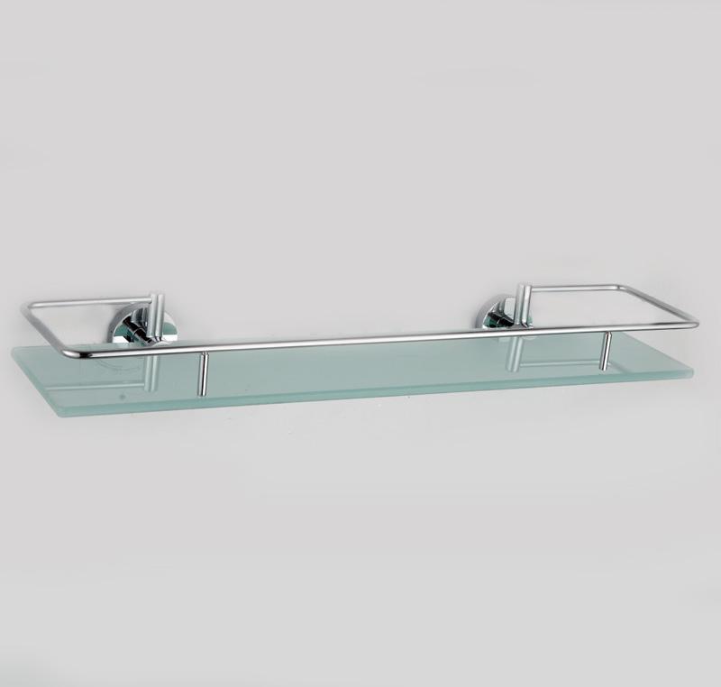 Стеклянные полочки для ванных принадлежностей