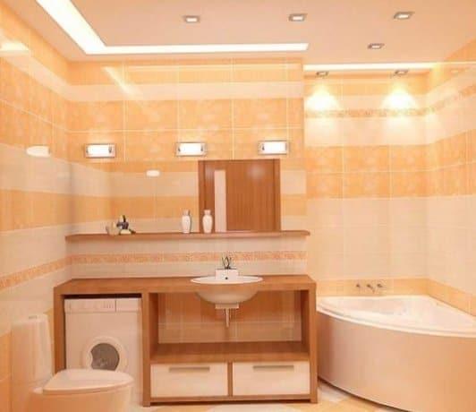 Светодиоды в дизайне ванной комнаты 2018