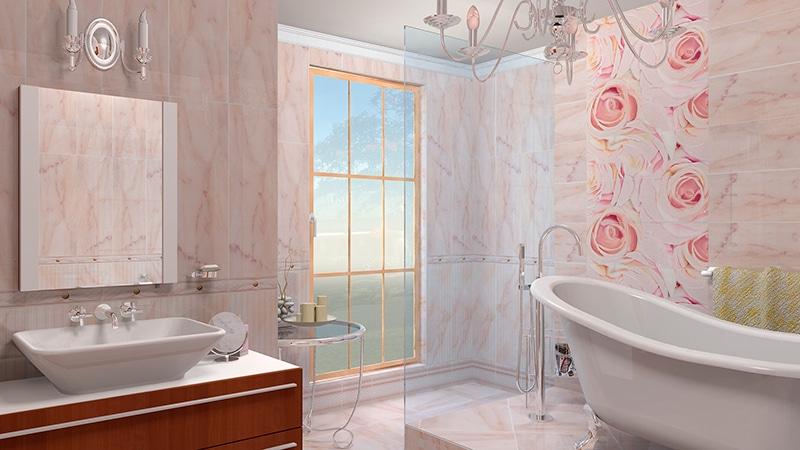 Вариант декора с помощью панелей в ванной комнате