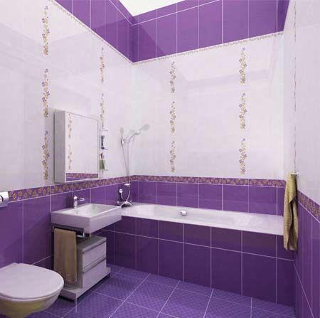 Выбор дизайна для кафельной плитки в ванную