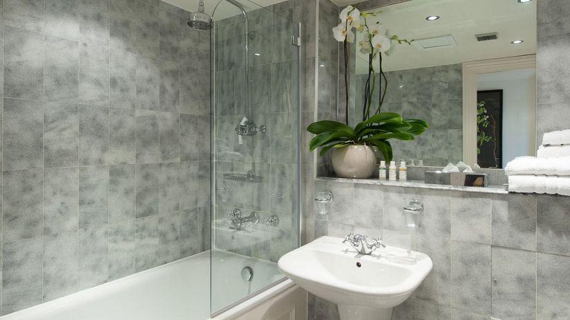 Живые растения в ванной комнате