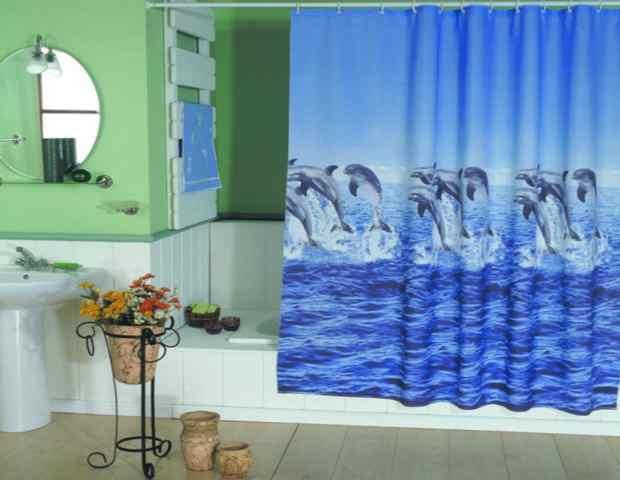 Занавески для ванной - стильно и практично