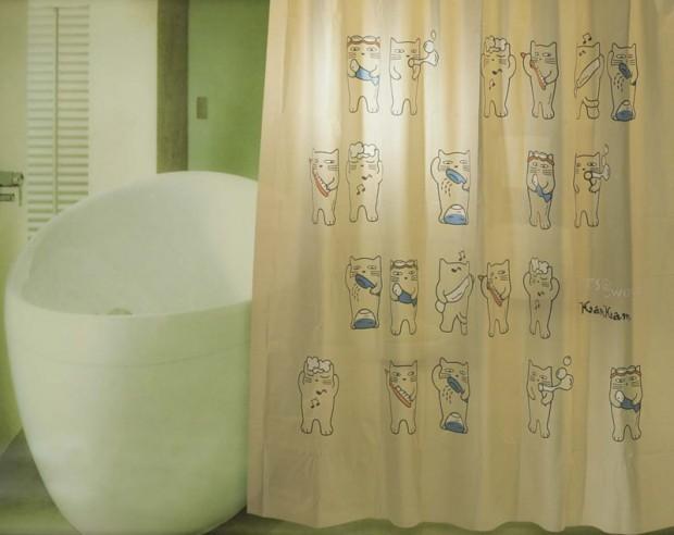Занавески в ванной комнате требуют тщательного ухода