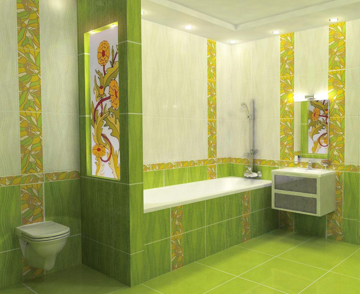 Зеленые оттенки дизайна комнаты