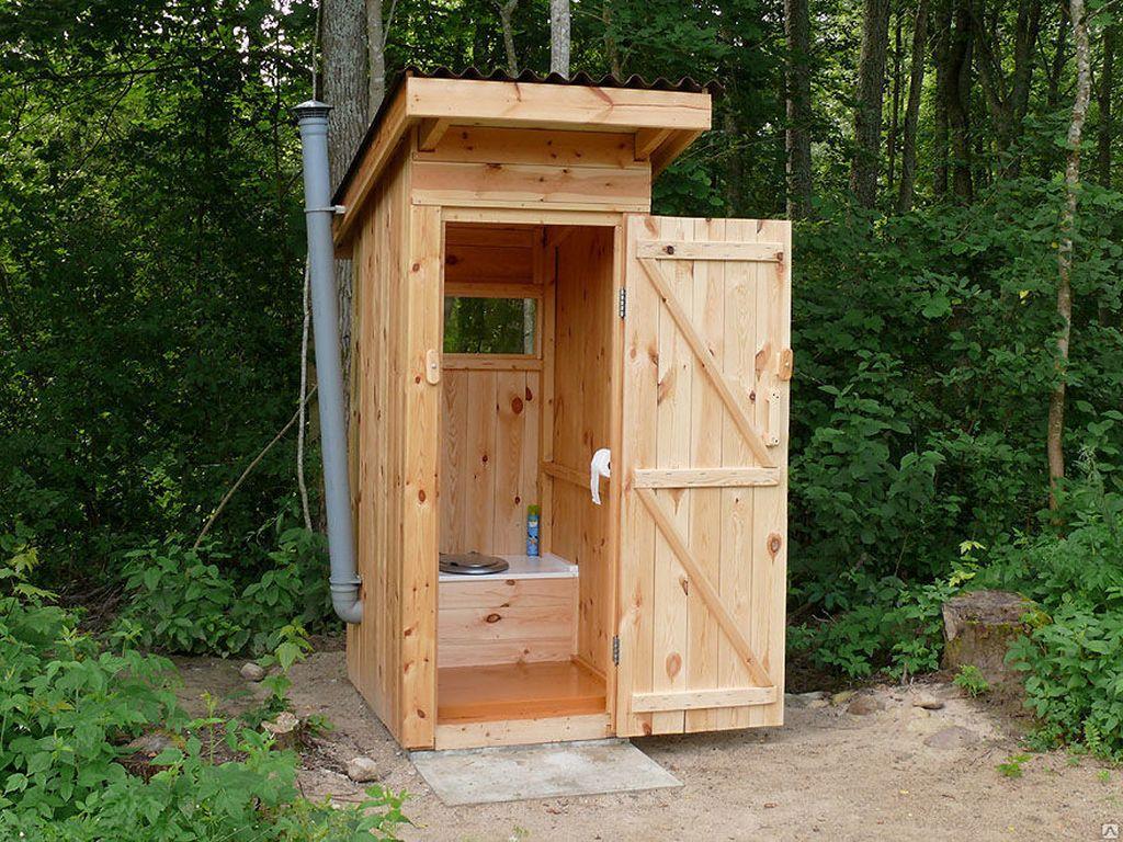 Дизайн дачного туалета изнутри
