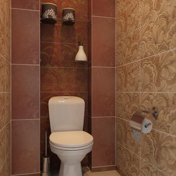 Дизайн - плитка в туалете