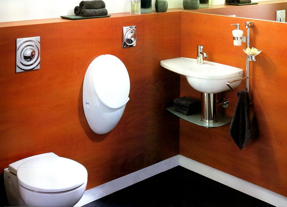 Эффектный дизайн маленькой ванной комнаты