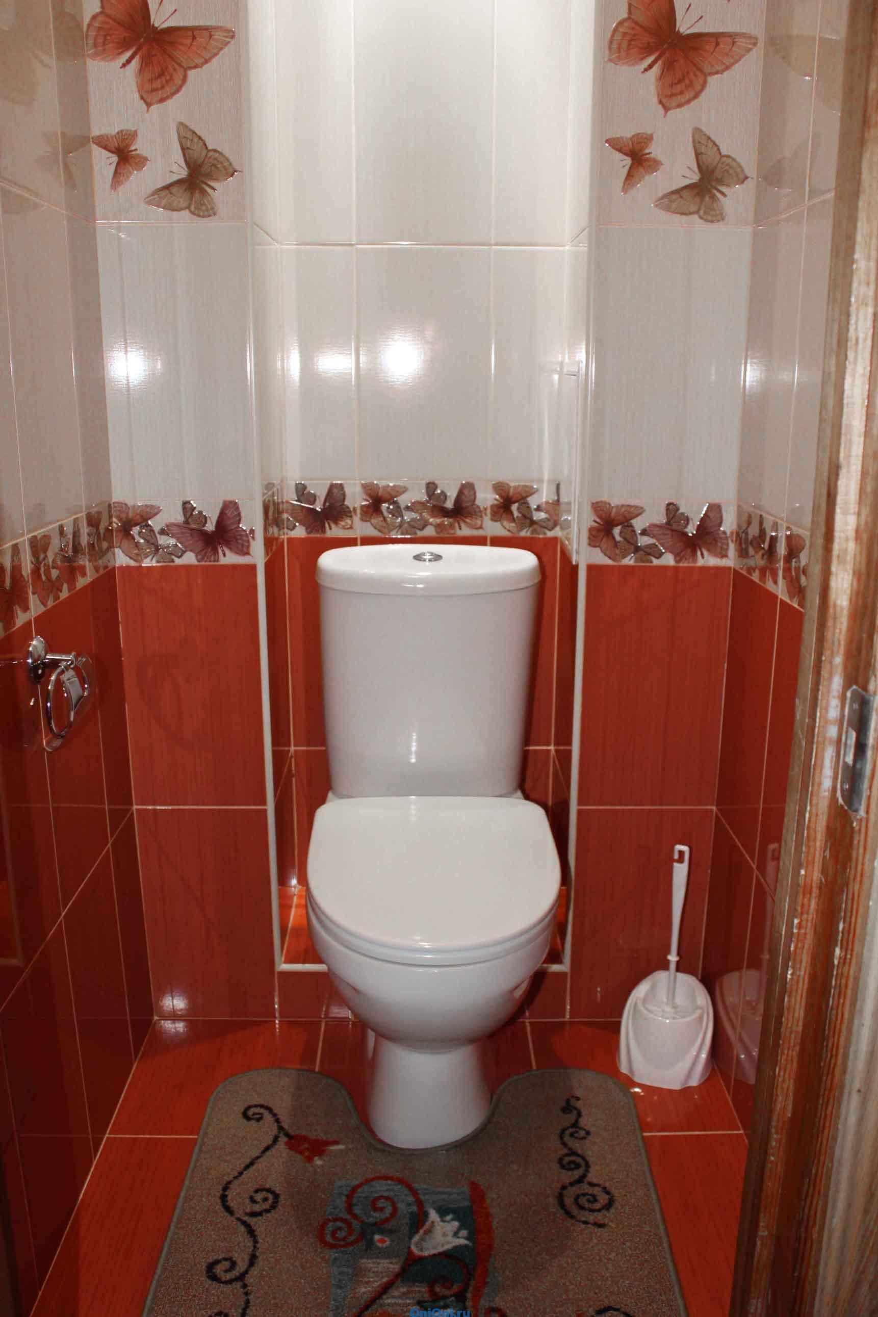 Кафель в туалете дизайн