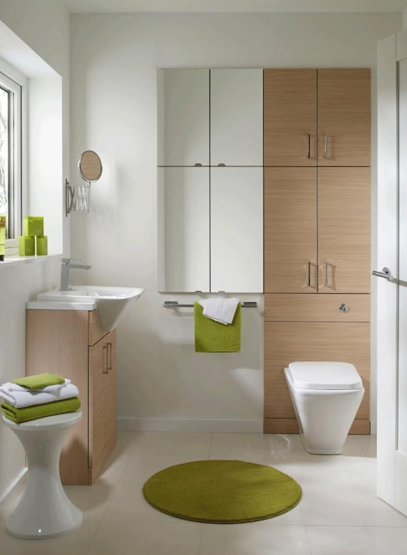 Отличным решением станет шкаф навесной в ванную комнату