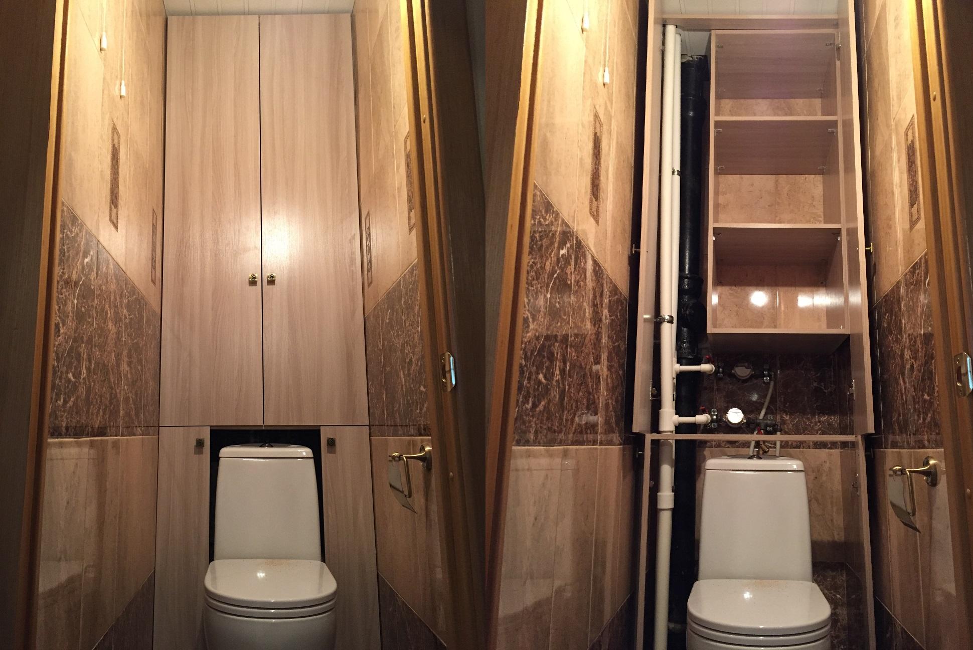 Сделать шкафчик в туалете