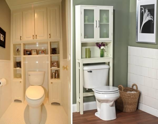 Удобное решение - шкаф в туалет