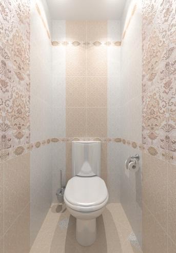 Укладка плитки в туалете начинается с демонтажа старого покрытия