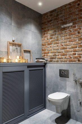 Особенности оформления туалетов в стиле «лофт»