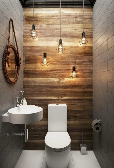 Стильный туалет в стиле лофт
